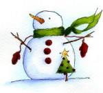 J09027 Button Snow Man